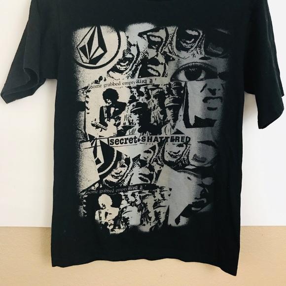 38307438 Volcom Shirts | Black Men Tshirt Size Small | Poshmark